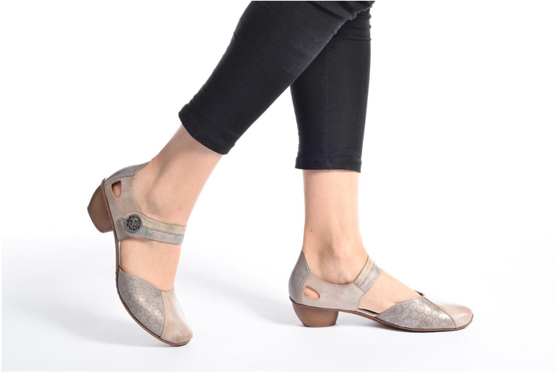 Zapatos de tacón Rieker Coir 43716 Gris vista de abajo