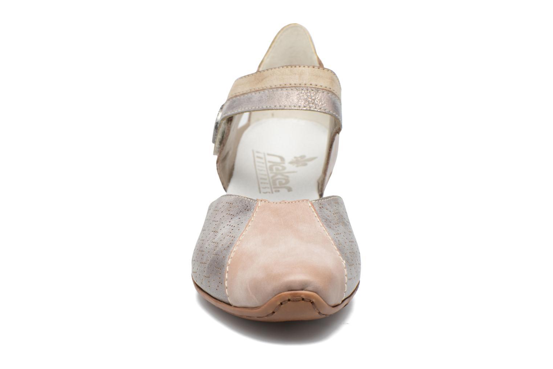 Zapatos de tacón Rieker Coir 43716 Gris vista del modelo