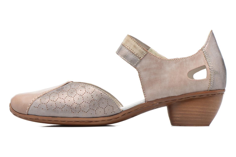 Zapatos de tacón Rieker Coir 43716 Gris vista de frente