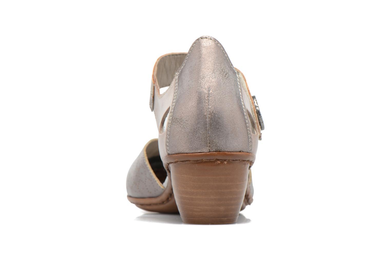 Zapatos de tacón Rieker Coir 43716 Gris vista lateral derecha