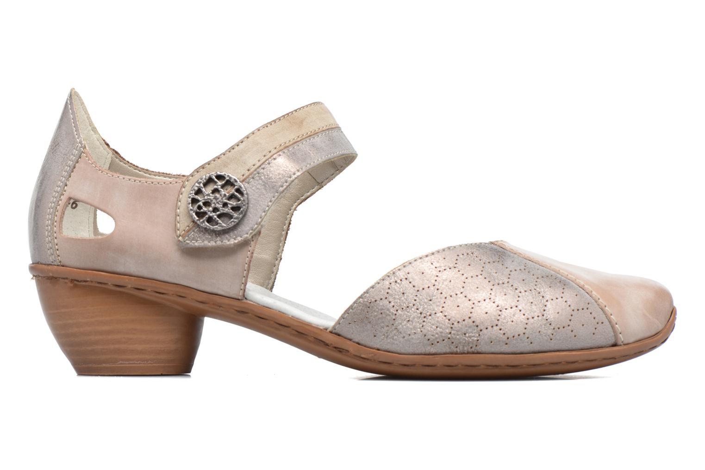 Zapatos de tacón Rieker Coir 43716 Gris vistra trasera