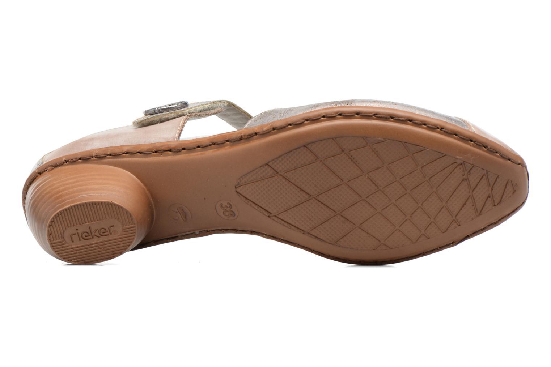 Zapatos de tacón Rieker Coir 43716 Gris vista de arriba