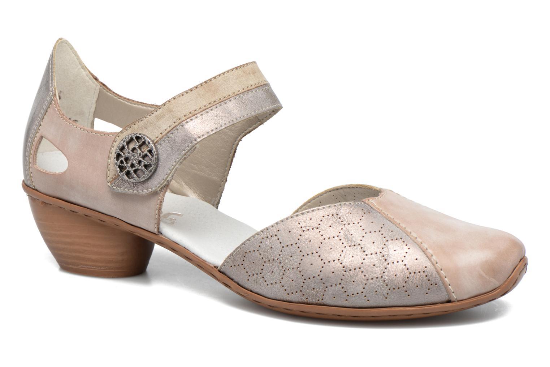 Zapatos de tacón Rieker Coir 43716 Gris vista de detalle / par