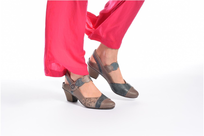 Sandales et nu-pieds Rieker Floris 45175 Rouge vue bas / vue portée sac