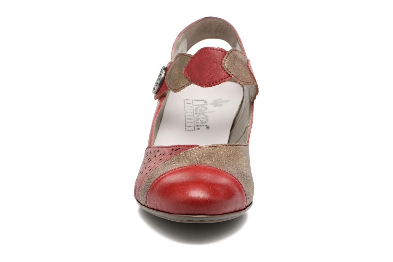 Sandales et nu-pieds Rieker Floris 45175 Rouge vue portées chaussures