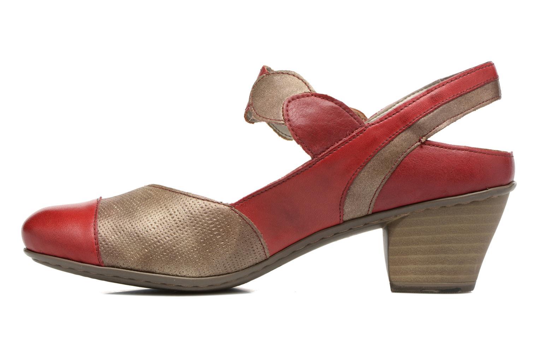 Sandales et nu-pieds Rieker Floris 45175 Rouge vue face