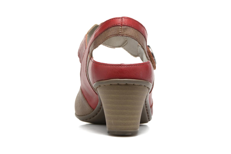 Sandales et nu-pieds Rieker Floris 45175 Rouge vue droite