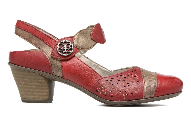 Sandales et nu-pieds Rieker Floris 45175 Rouge vue derrière