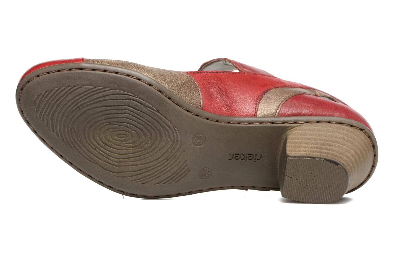 Sandales et nu-pieds Rieker Floris 45175 Rouge vue haut