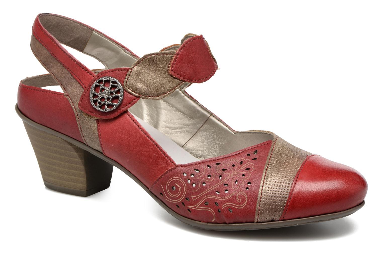 Sandales et nu-pieds Rieker Floris 45175 Rouge vue détail/paire