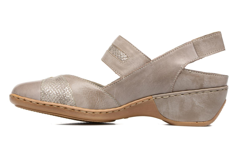 Zapatos de tacón Rieker Lieve 47176 Beige vista de frente