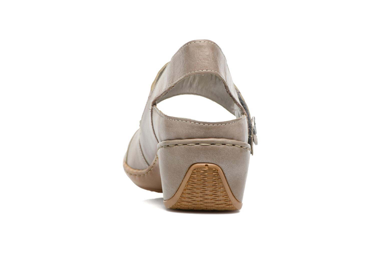 Zapatos de tacón Rieker Lieve 47176 Beige vista lateral derecha