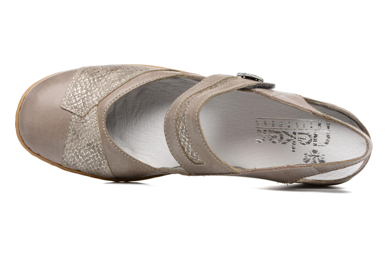 Zapatos de tacón Rieker Lieve 47176 Beige vista lateral izquierda