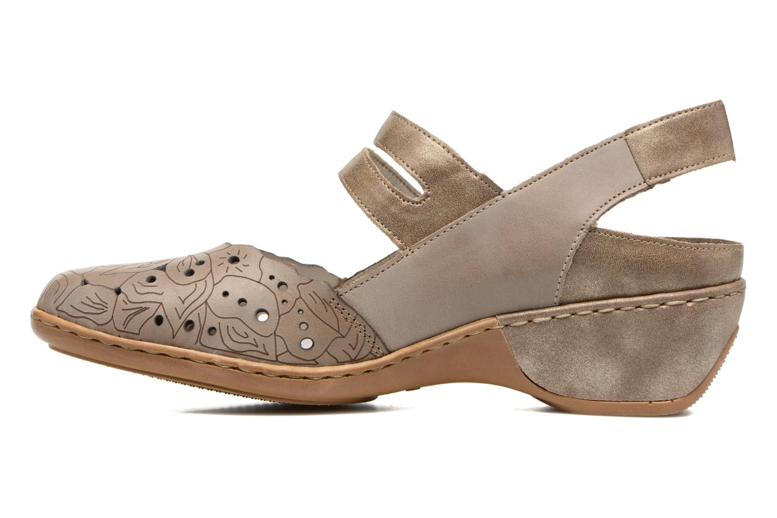 Sandales et nu-pieds Rieker Pima 47195 Gris vue face