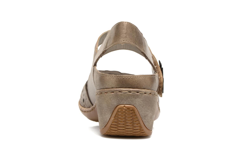 Sandales et nu-pieds Rieker Pima 47195 Gris vue droite
