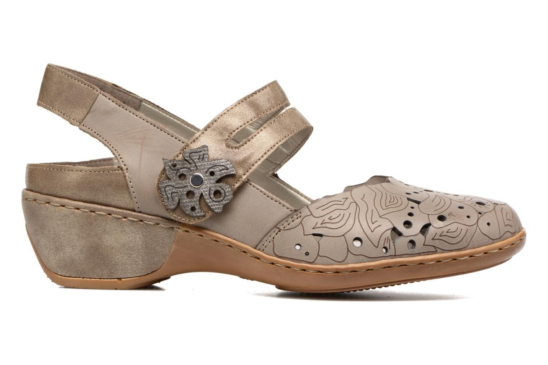 Sandales et nu-pieds Rieker Pima 47195 Gris vue derrière