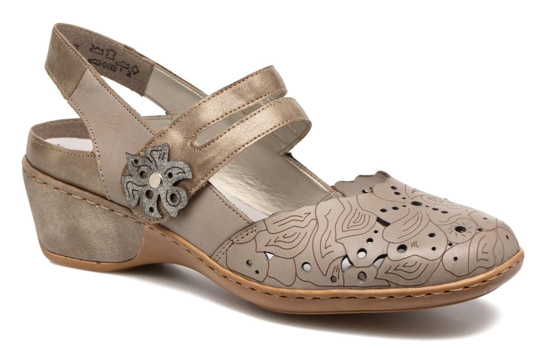 Sandales et nu-pieds Rieker Pima 47195 Gris vue détail/paire