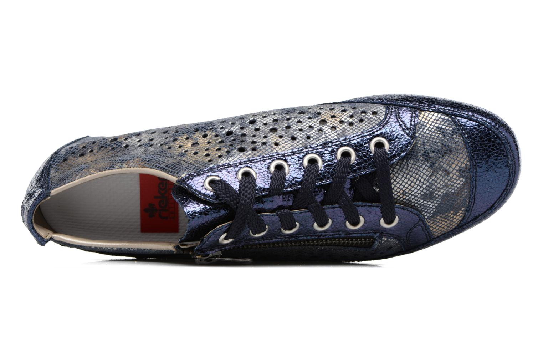 Sneakers Rieker Wim 57715 Blå se fra venstre