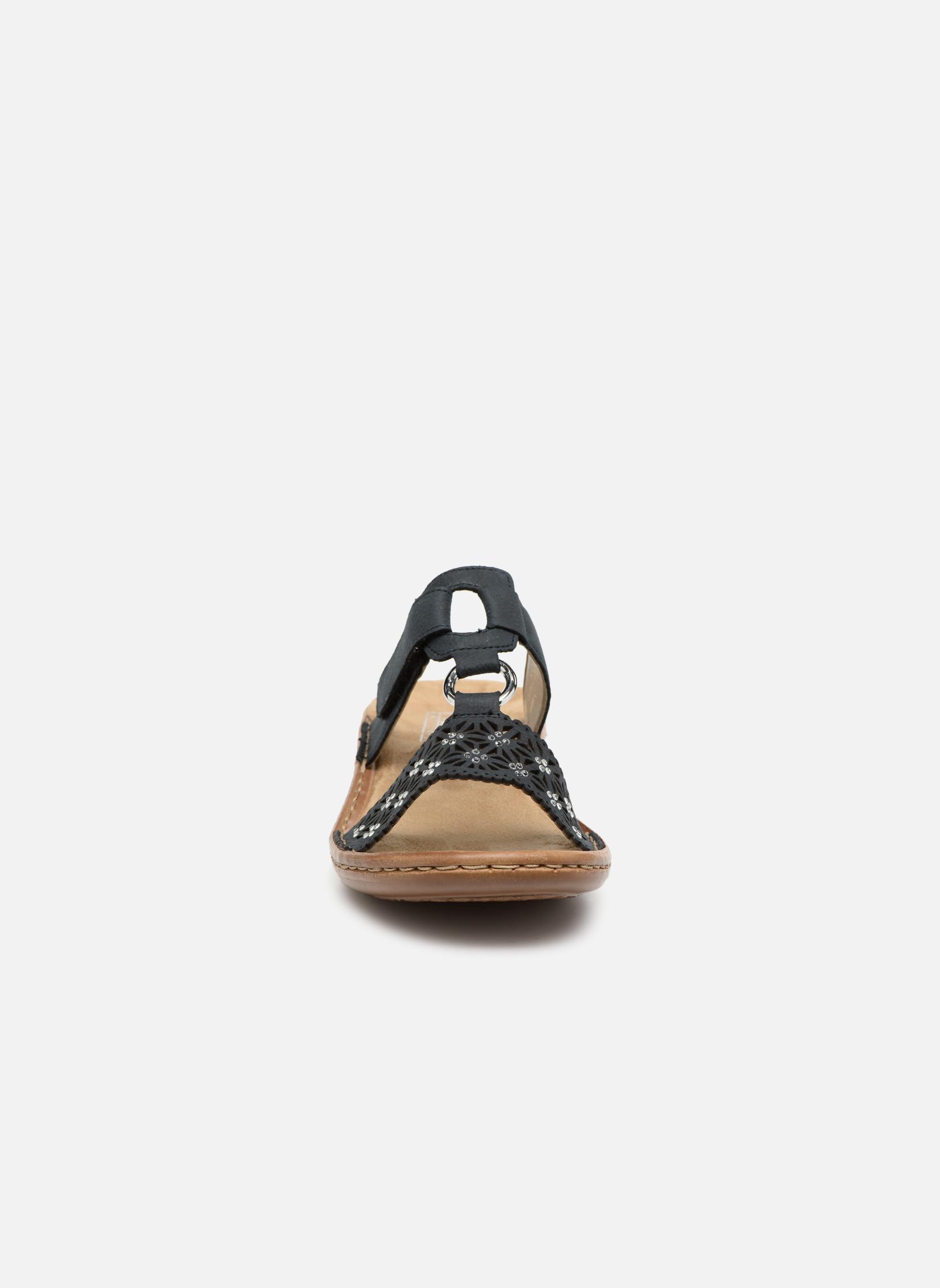 Mules et sabots Rieker Bartje 60871 Noir vue portées chaussures