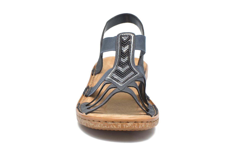 Sandales et nu-pieds Rieker gonda 62821 Bleu vue portées chaussures