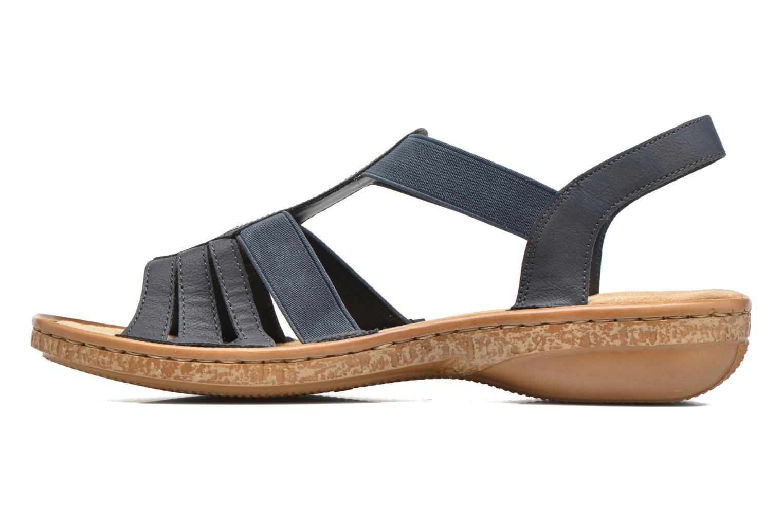 Sandales et nu-pieds Rieker gonda 62821 Bleu vue face