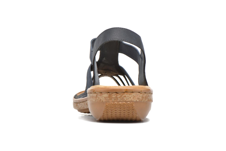 Sandales et nu-pieds Rieker gonda 62821 Bleu vue droite
