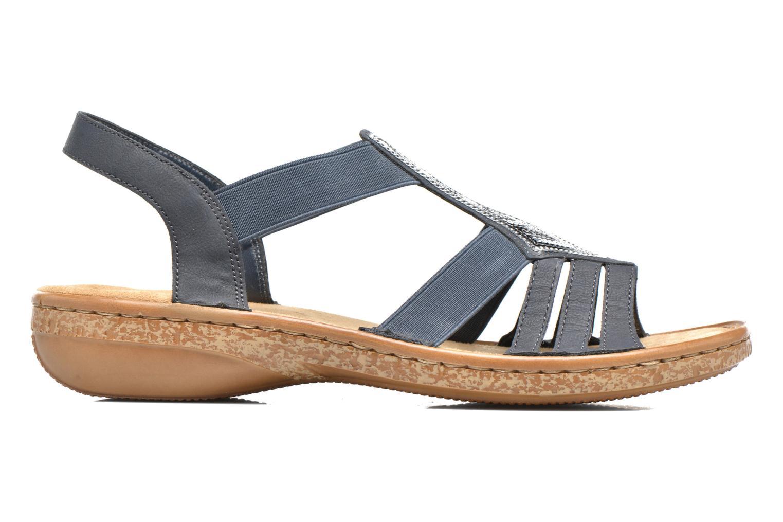 Sandales et nu-pieds Rieker gonda 62821 Bleu vue derrière