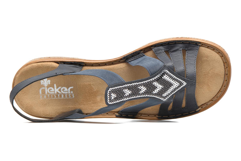 Sandales et nu-pieds Rieker gonda 62821 Bleu vue gauche