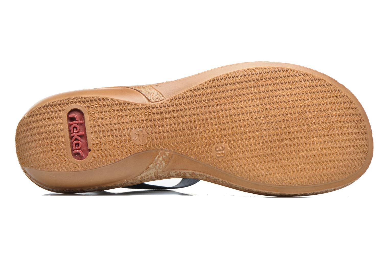 Sandales et nu-pieds Rieker gonda 62821 Bleu vue haut