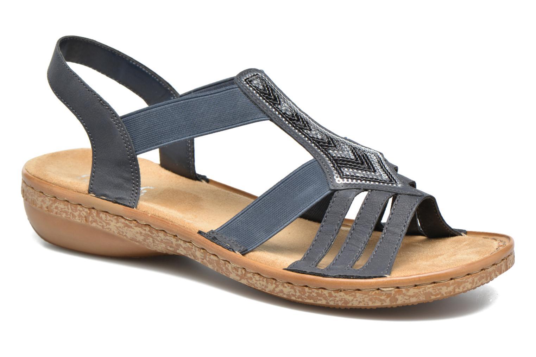 Sandales et nu-pieds Rieker gonda 62821 Bleu vue détail/paire