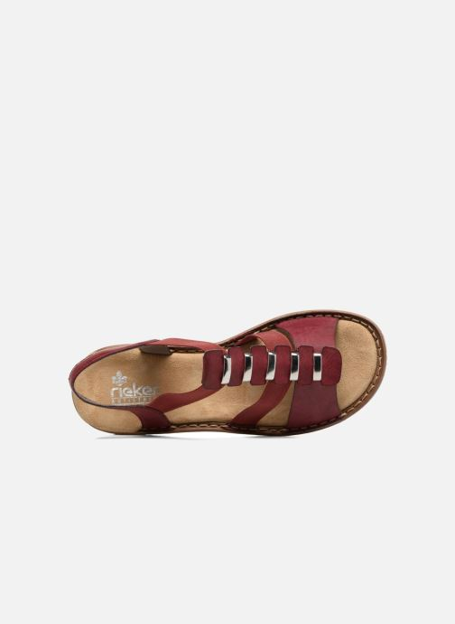 Sandals Rieker Augusta 62850 Red view from the left