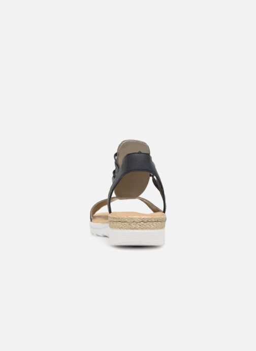 Sandals Rieker Inge 63062 Blue view from the right