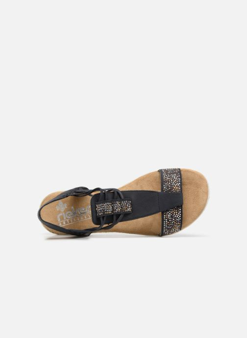 Sandals Rieker Inge 63062 Blue view from the left
