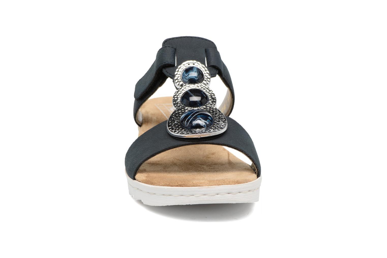 Mules et sabots Rieker Jenne 63064 Bleu vue portées chaussures