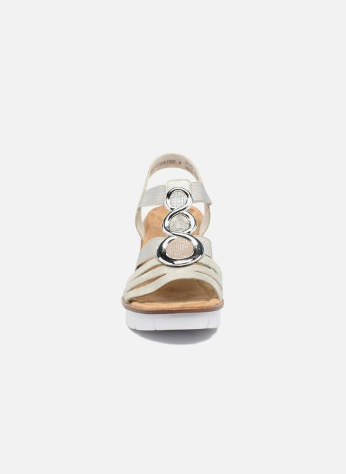 Sandali e scarpe aperte Rieker Jikke 65540 Grigio modello indossato