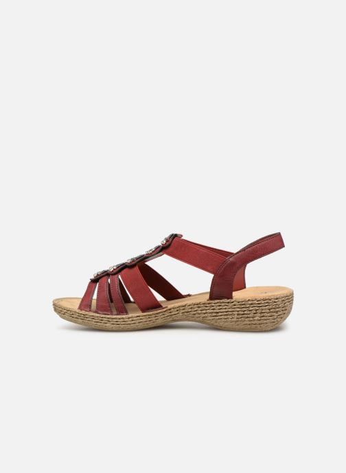 Sandales et nu-pieds Rieker Nora Bordeaux vue face