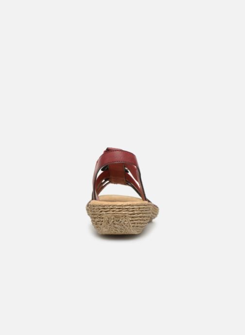 Sandales et nu-pieds Rieker Nora Bordeaux vue droite
