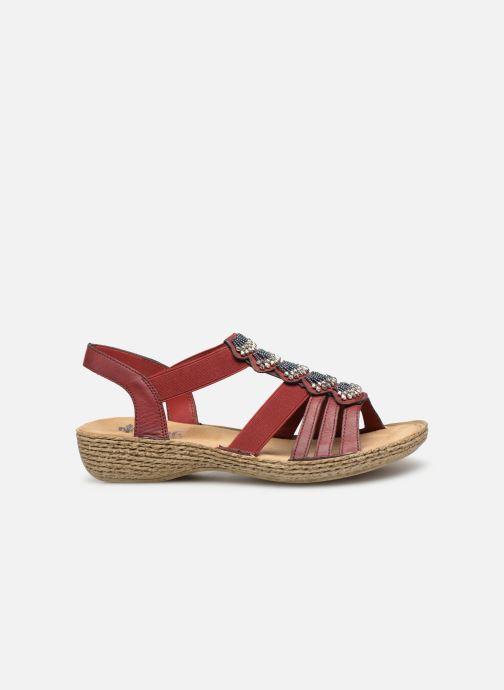 Sandales et nu-pieds Rieker Nora Bordeaux vue derrière