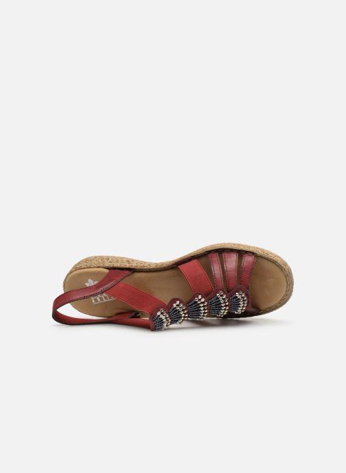 Sandales et nu-pieds Rieker Nora Bordeaux vue gauche