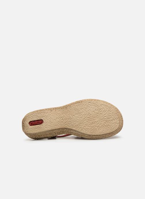 Sandales et nu-pieds Rieker Nora Bordeaux vue haut