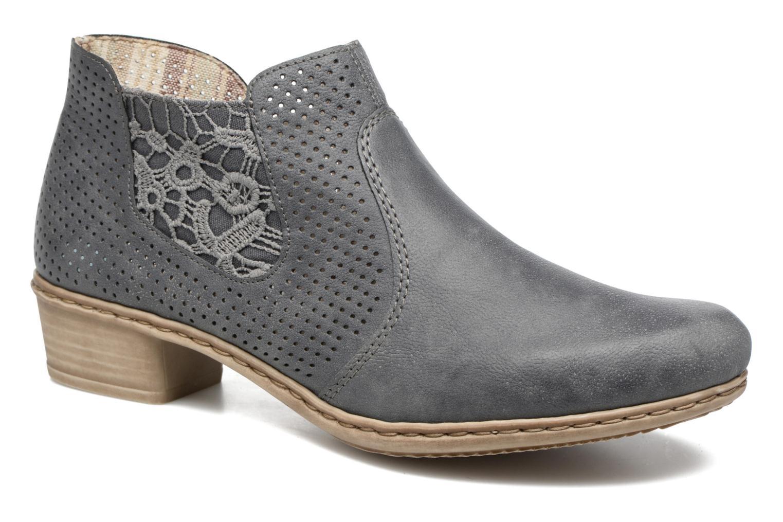 Bottines et boots Rieker Marla 0757 Bleu vue détail/paire