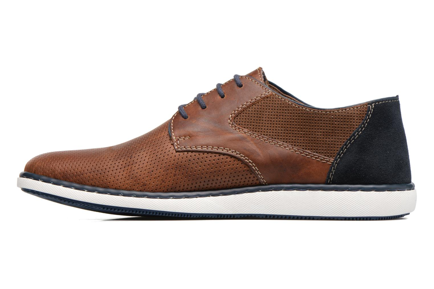 Lace-up shoes Rieker Epke 17824 Brown front view