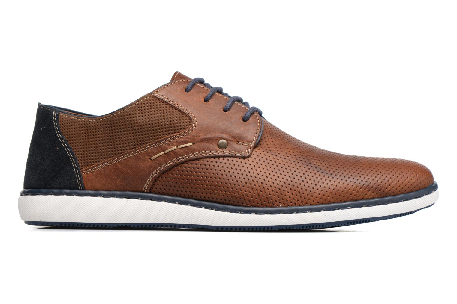 Lace-up shoes Rieker Epke 17824 Brown back view