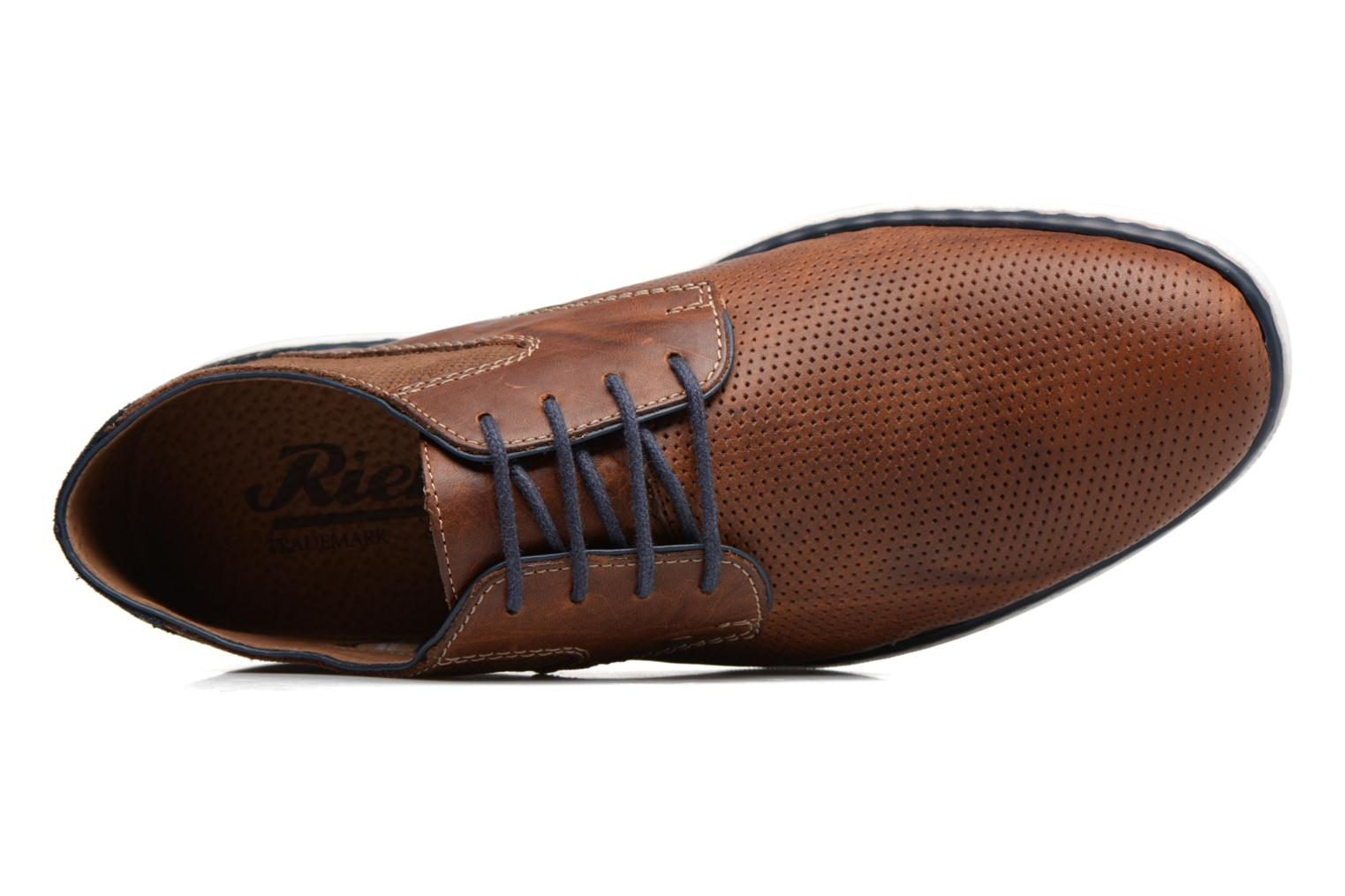 Lace-up shoes Rieker Epke 17824 Brown view from the left