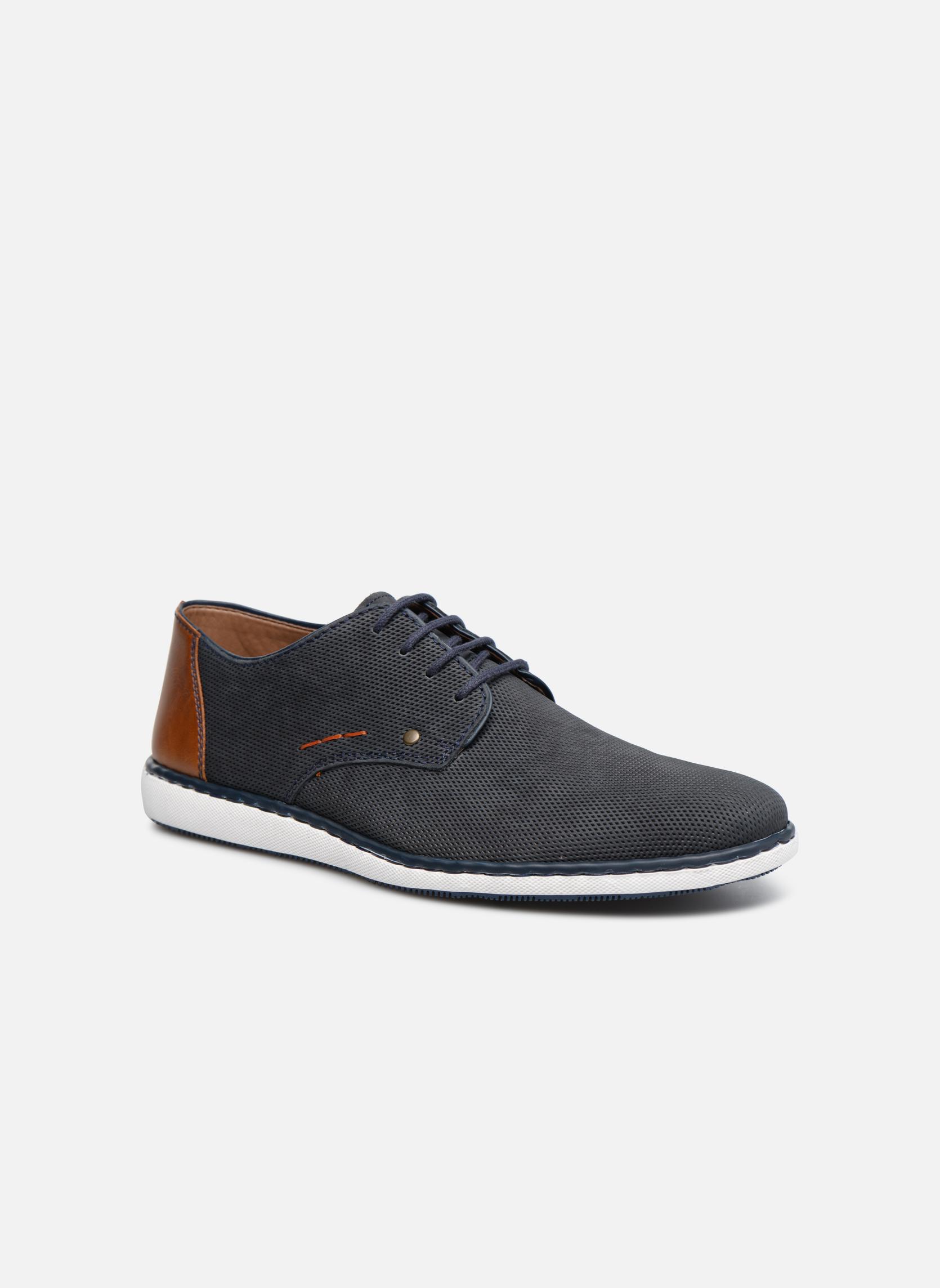 Chaussures à lacets Rieker Egbert 17833 Bleu vue détail/paire