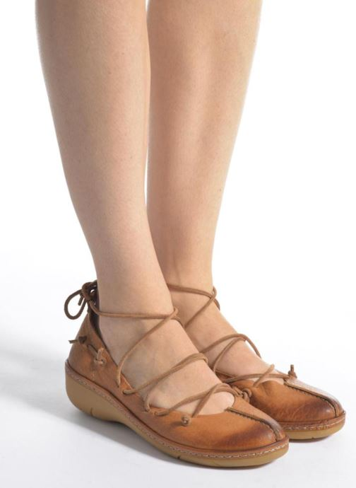 Ballet pumps Dkode Napea Brown view from underneath / model view