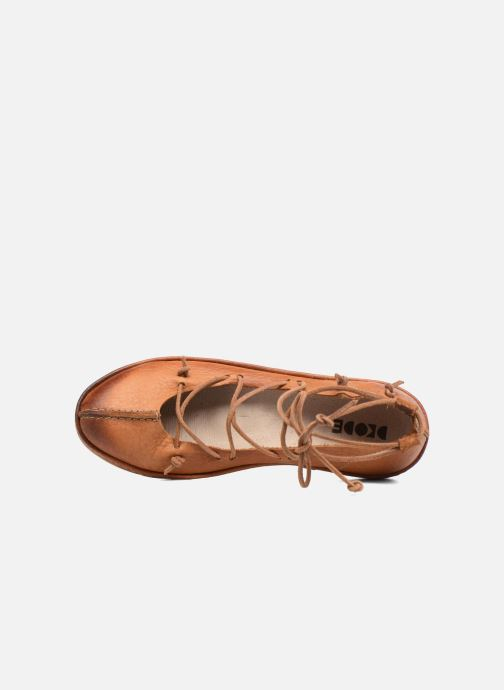 Ballet pumps Dkode Napea Brown view from the left