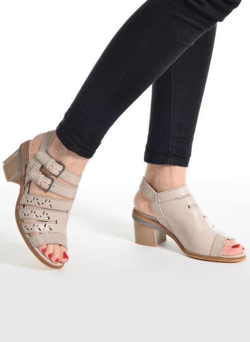 Sandals Dkode Genna Beige view from underneath / model view