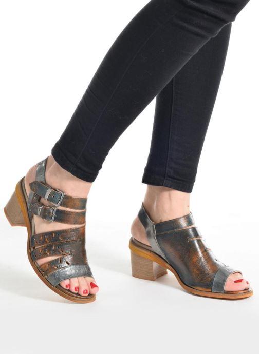 Sandales et nu-pieds Dkode Genna Bleu vue bas / vue portée sac