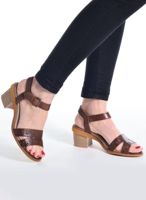Sandales et nu-pieds Dkode Grazia Marron vue bas / vue portée sac